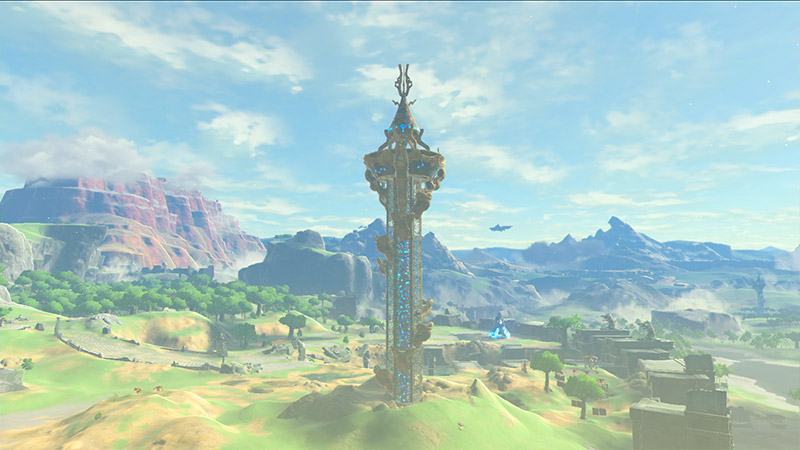 Official screenshot of Breath of the Wild's open world.