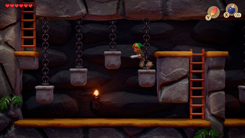 Link's awakening review - sample pic of the dungeon side view